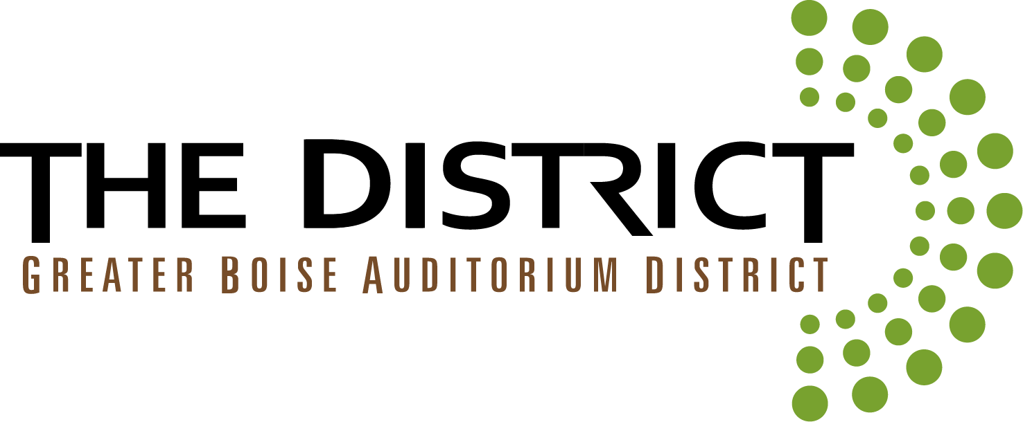 The District: Greater Boise Auditorium District logo