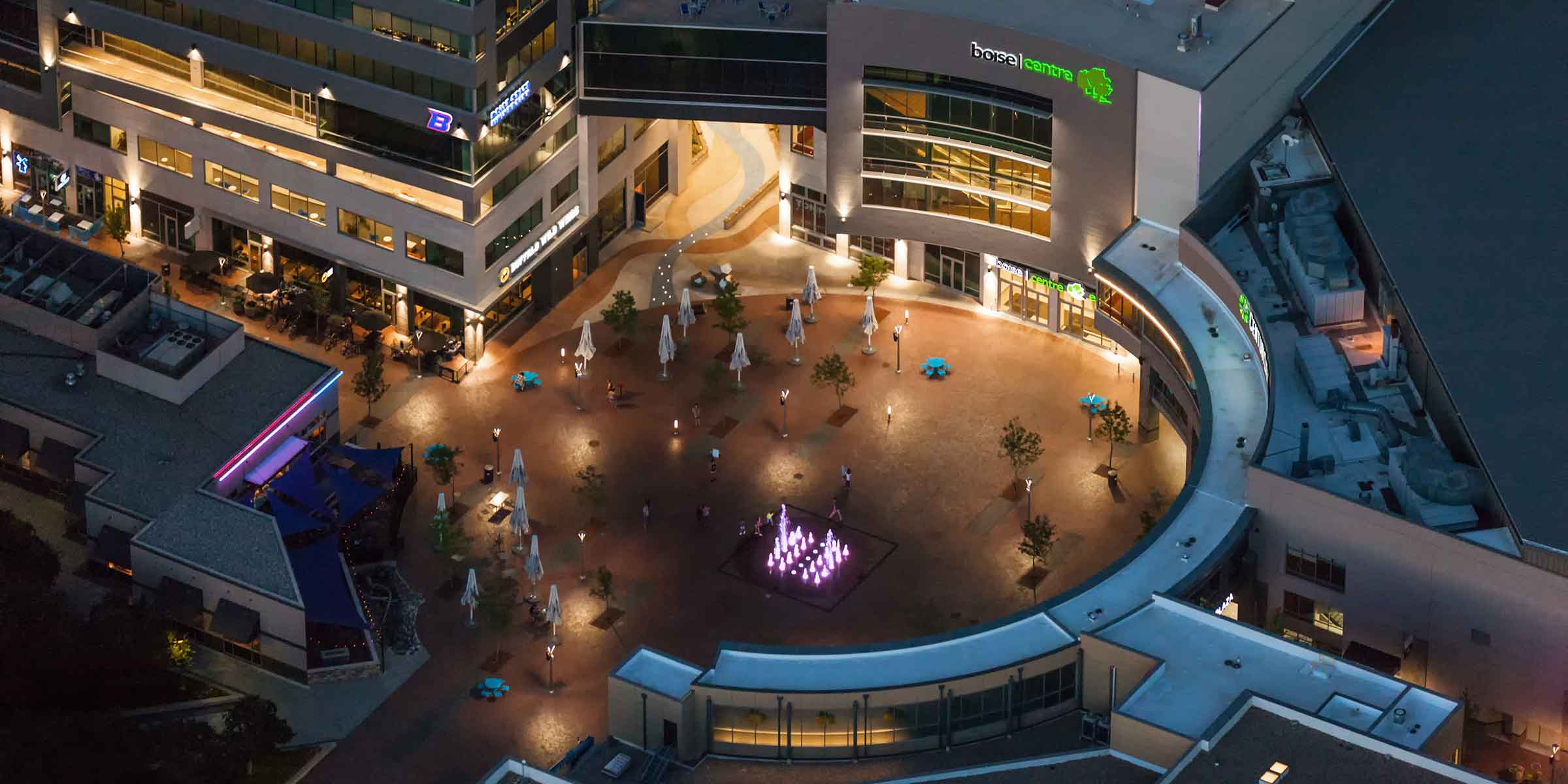 Birdseye rendering of Grove Plaza and Boise Centre expansion